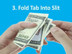 Die Cut Bill-Board Fold Over Drop Card - Step 3